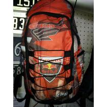Mochila Moto Gama Honda Red Bull Viaje Camping Atv Sky Nieve