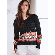 Sweater Petroleo Coral Guardas S-m Victoria