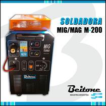 Soldadora Mig-mag M-200 Beitone 220v Industria Argentina