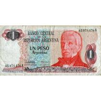 Billete Un Peso Argentino Don José De San Martín Serie A
