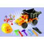 Camion Volcador 48 Cm Pvc C/casco Set Herramientas Y Access!
