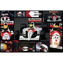 Ayrton Senna F1 Bastidor En Canvas De 95x60 Cm Exelente