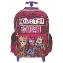 Mochila Con Carro Grande Monster High Original Mundo Manias