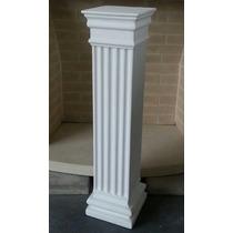 Columna De Yeso Dorica Cuadrada 80 Cm De Altura
