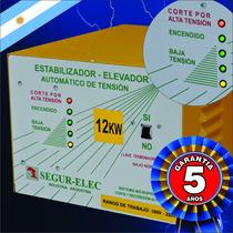Elevador De Tensión Automático 12 Kw. Segur-elec Estabiliz.