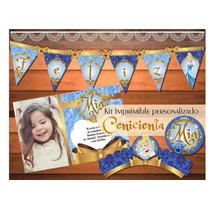 Kit Imprimible Personalizado Princesa Cenicienta Vintage