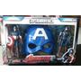 Set Capitan America - 2 Muñecos Articulados + Mascara Oferta