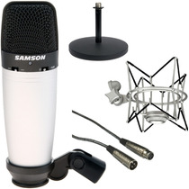 Microfono Samson C03 + Shock Mount + Cable + Pie De Mesa