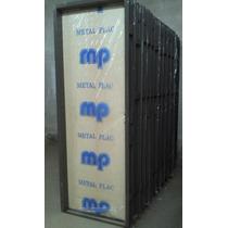 Puerta Placa Cedro 70x200 Tabique 15 - Marco De Chapa 18