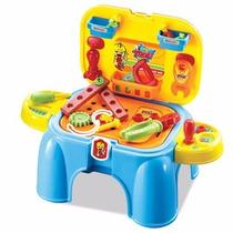 Banquito Taller Con Herramientas Sonidos Zippy Toys Todoxmia