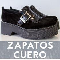 Zapatos Cuero Mujer - Botitas Plataforma Moda - Araquina