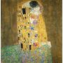Cuadro Klimt El Beso En Lienzo 100x100cm Calidad Premium