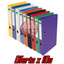 Bibliorato Color Angosto A4 / Oficio Forrado Pvc X10 Unid