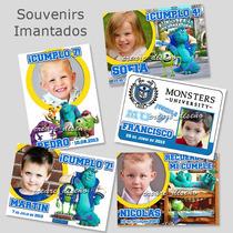 Monster University Cumpleaños 10 Imanes Con Foto Re Lindo