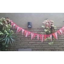 Banderines De Tela Doble Colores Cumpleaños
