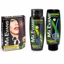 Ma Evans Keratina Kit Tratamiento + Shampoo + Acondicionador