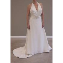 Vestido Blanco Largo 15 Años Novia Gordita Talles Grandes