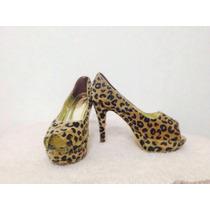 Zapatos De Taco Leopardo