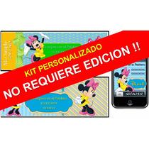 Kit Imprimible De Minnie Mouse Personalizado 100%