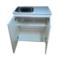 Mueble De Lavadero Con Mesada De Acero 80cm Envio Sin Cargo