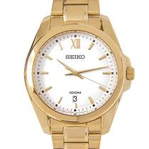 Reloj Seiko Sgeg64 Dorado Wr100m Agente Oficial