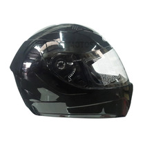 Casco Integral Zeus Gj 806 Doble Visor Solid Black