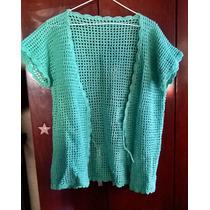 Saco Blusa Tipo Kimono Tejido A Mano En Crochet