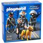 Playmobil Escuadron 4 Policias Mas Perro 5565