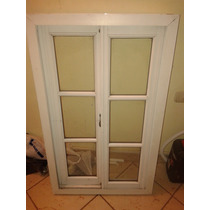 Ventana Aluminio Con Vidrios Repartidos 1m De Altura Y 60 Cm