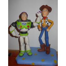 Toy Story, Woody Y Buzz (figuras De Porcelana Fria De 20 Cm)