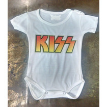 Body De Bebe Kiss Para Pequeños Rockeros!