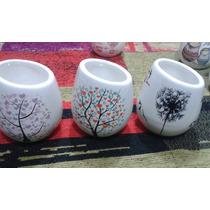 Mates De Porcelana Pintados A Mano Varios Diseños