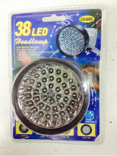 Linterna minero 38 led super potente bajo consumo vincha for Linterna de led potente