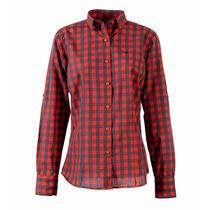 Camisa Brooksfield Mujer Moda Algodón Cuadros