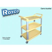 Carro Para Limpieza Auxiliar / Utilitario / 3 Bandejas Royco