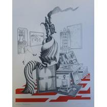 Juan Carlos Liberti Serigrafia Retrato Rubbers 1971 45x36