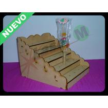 Tribuna Porta Brochettes -en Fibrofácil-para Candy Bar