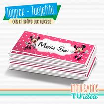 Minnie - Tarjetita Souvenir Para Imprimir