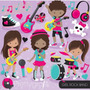 Kit Imprimible Rock Stars 4 Imagenes Clipart