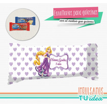 Rapunzel - Envoltorio Chocolatín Para Imprimir