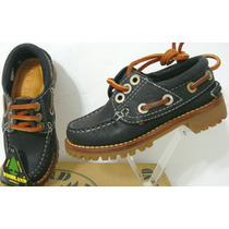 Woodland Zapatos Nauticos 26 Cuero Vacuno Negro (ana.mar)