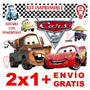 Kit Imprimible Cars, Rayo Mcqueen, Figuras Armables, Fiesta