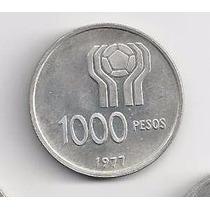 1000 Pesos Moneda De Plata Mundial 1978 Cuño 1977