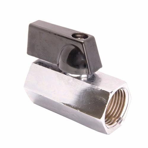 Mini Valvula Esferica Metal 1/8 Rosca Hembra/hembra Aquaflex