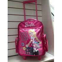 Mochila Con Carro Barbie Tapa Rebatible Envio Sin Cargo Caba