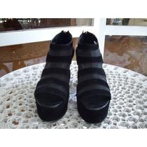 Zapato De Gamuza Con Taco Y Plataforma De Miskha