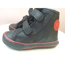 Botitas Zapatilla Eco Cuero Negras Velcro Toot Bebe Nene 20