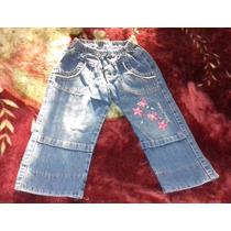 Pantalon Yean Con Elastico Cintura Y Bordado