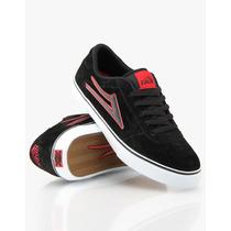 Zapatillas Lakai Manchester Select Black / Red Suede