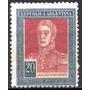 Argentina 1924. 20 Pesos San Martín Con Filigrana R A